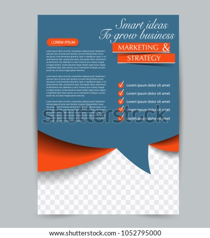 Flyer Template Design Business Education Advertisement Stock Vector