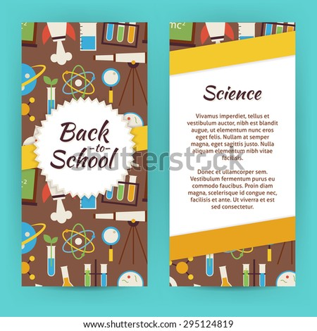 Flyer Template School Knowledge Science Education Stock Photo Photo