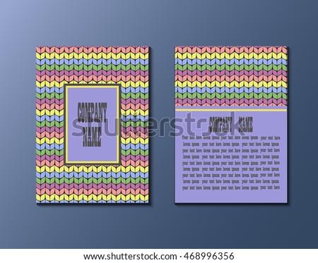 Flyer Template Knitting Pattern Greeting Card Stock Vector 468996356 ...