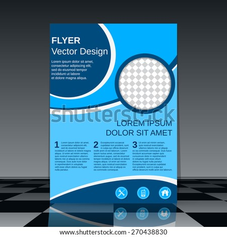 Flyer vector template. Brochure cover, magazine, booklet, poster abstract design. - stock vector