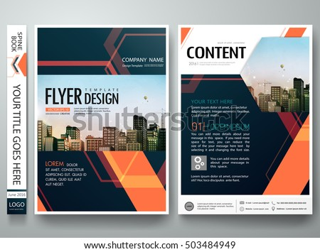 Flyers design template vector abstract blue stock vector for Engineering brochure templates free download