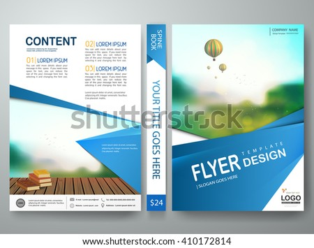 Flyers design template vector.Brochure report business magazine poster template.Cover book portfolio presentation and abstract blue shape on poster design.City design on brochure background.A4 layout. - stock vector