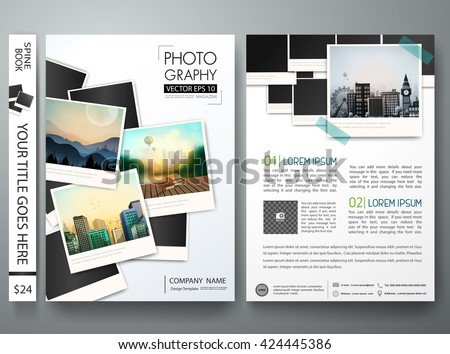 Flyers Template Vector Photography Brochure Report Stock Vector