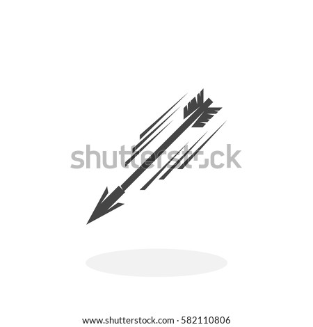 Flying Arrow Icon Isolated On White Stock Vector 582110806 ...