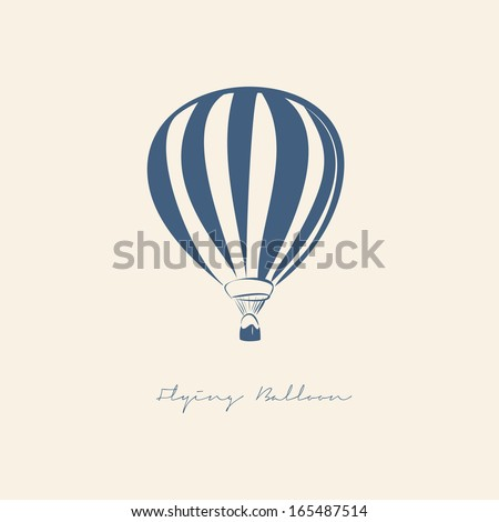 FLYING BALLOON VECTOR ILLUSTRATION - stock vector
