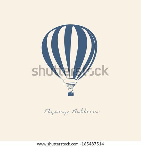FLYING BALLOON VECTOR ILLUSTRATION - stock vector
