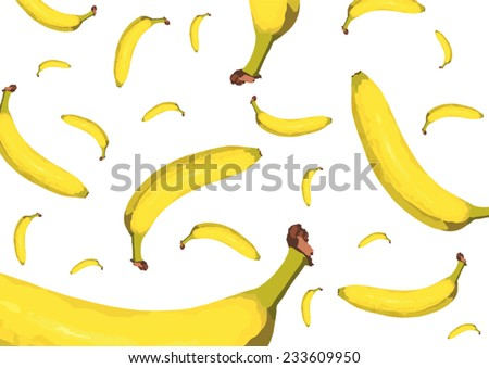 flying bananas - stock vector