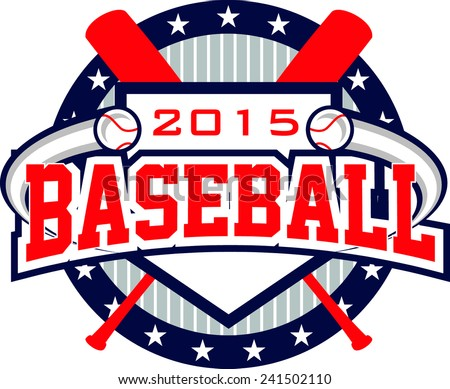 Flying Baseball Logo - stock vector