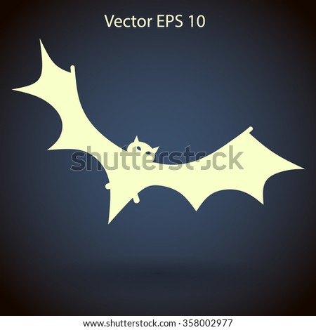 flying bat vector illustration