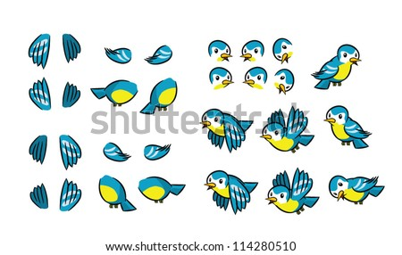 Flying Bird Animation Frames Stock Vector (2018) 114280510 ...