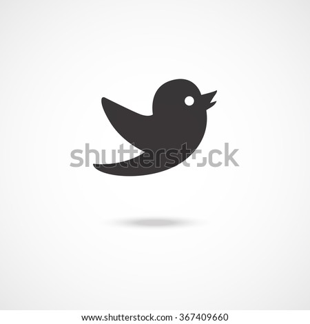 Flying bird icon. Vector illustration