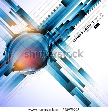 Flying blue line. Abstract Background for Business Brochure or Cover. EPS10. - stock vector