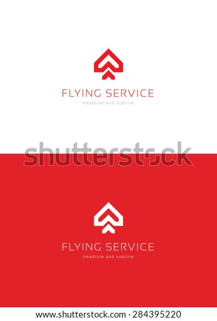 Flying cservice logo teamplate. - stock vector