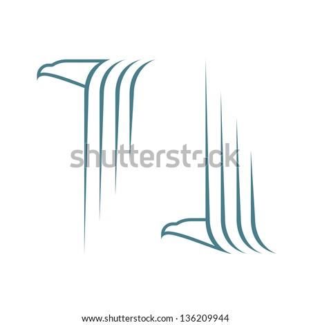 Flying eagle - vector illustration - stock vector