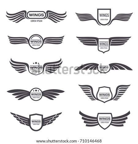 winged logos vintage