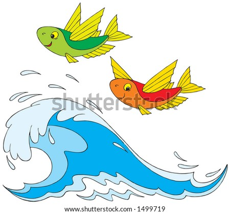Flying fish cartoon clipart for Flying fish company