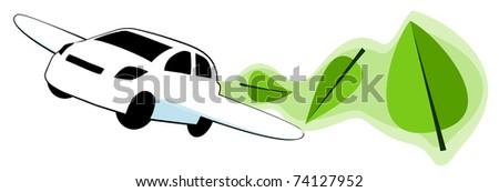 Flying Green - stock vector