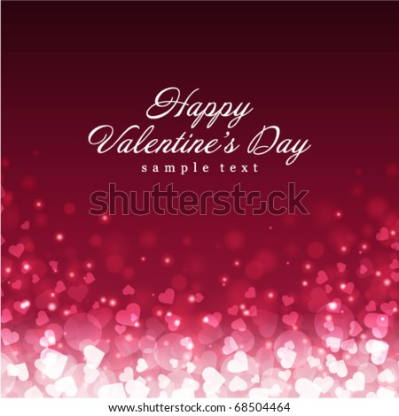Flying hearts Valentine's day or Wedding vector background - stock vector