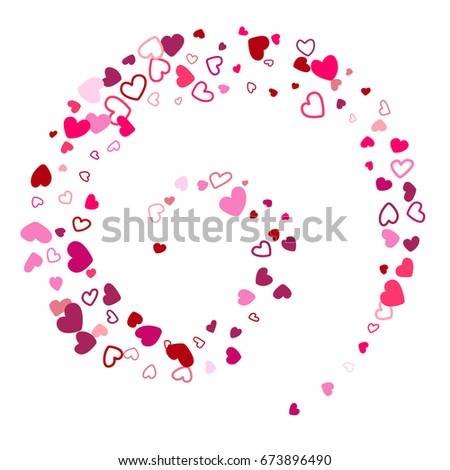 Flying Hearts Vector Abstract Background Flowing Stock Vector ...
