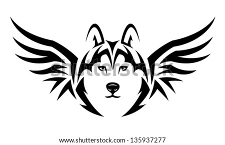 winged wolf stock photos royalty free images vectors shutterstock. Black Bedroom Furniture Sets. Home Design Ideas