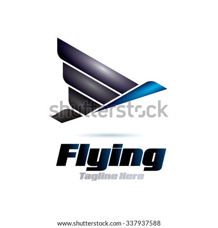 Flying Icon Logo Elements - stock vector