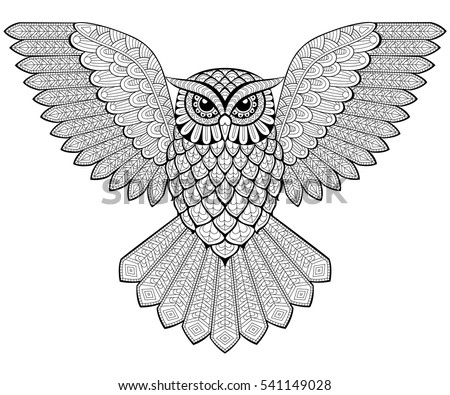 Zentangle Stylized Cartoon Eagle