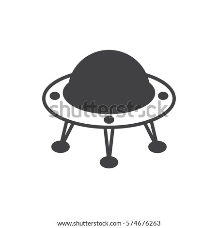 Flying saucer icon vector illustration