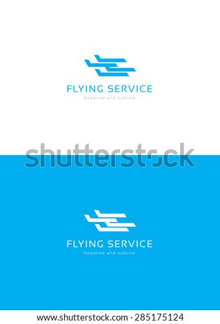 Flying service logo tamplate. - stock vector