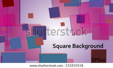 flying squares - stock vector