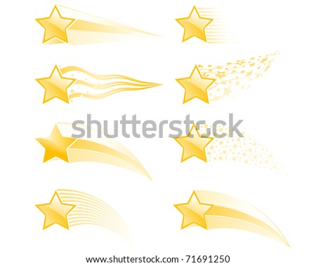 Flying stars and star tracks in different style