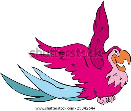 flynig parrot - stock vector