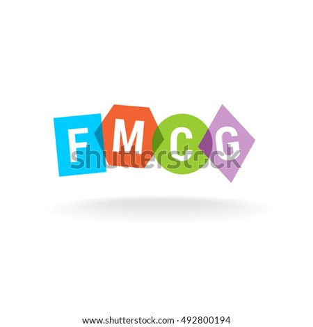 Letters Logo Fast Moving Consumer Goods Business Concept