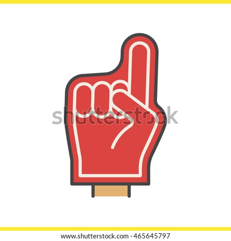 Foam finger stock images royalty free images vectors shutterstock foam finger color icon american football fans red foam hand isolated vector illustration pronofoot35fo Choice Image