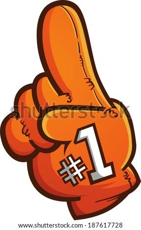 Foam Finger Vector Cartoon Graphic - stock vector