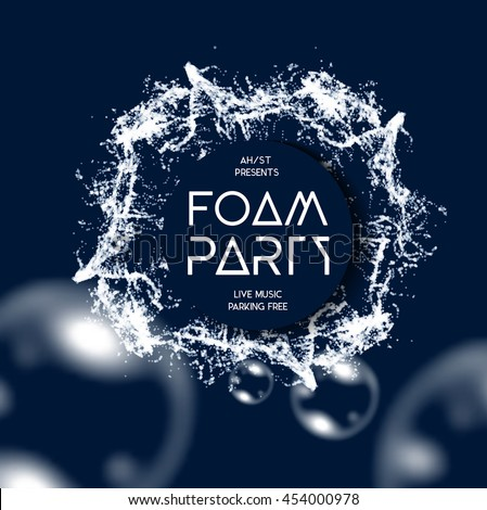 Foam party splash vector background - stock vector