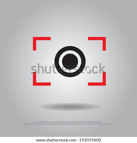 focus camera vector icon - stock vector