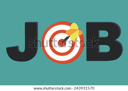 Focus Job - career counseling concept - stock vector