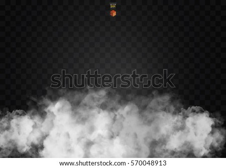 Fog or smoke isolated transparent special effect. White vector cloudiness, mist smog background. illustration