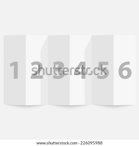 Folded paper on a white background. Vector illustration - stock vector