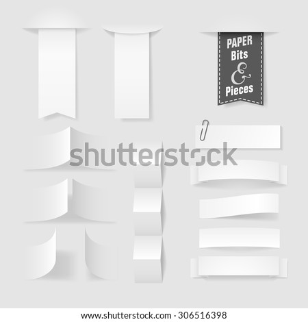 Folded paper with copy space for a message, eps10 vector - stock vector