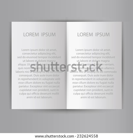 Folded sheet of paper blank brochure template. Ready for a text. Vector illustration EPS10 - stock vector
