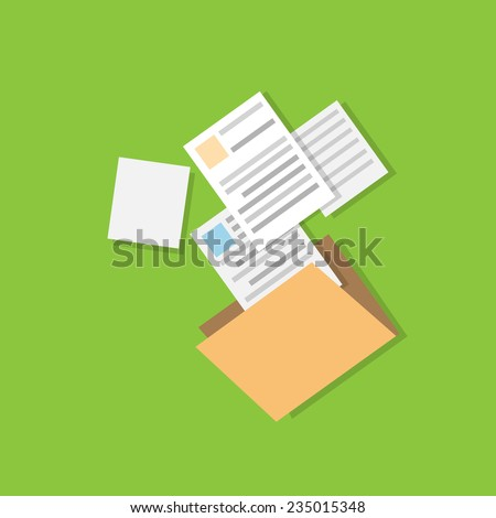 folder document paper icon flat design vector illustration - stock vector