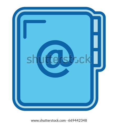 folder document with arroba symbol