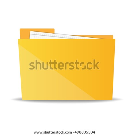 folder for papers. vector illustration