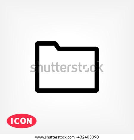 Folder Icon, Folder icon flat, Folder icon picture, Folder icon vector, Folder icon EPS10, Folder icon graphic, Folder icon object, Folder icon JPEG, Folder icon picture, Folder icon image - stock vector