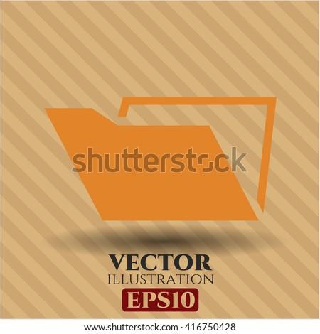 Folder icon, Folder icon vector, Folder icon symbol, Folder flat icon, Folder icon eps, Folder icon jpg, Folder icon app, Folder web icon, Folder concept icon, Folder website icon, Folder - stock vector