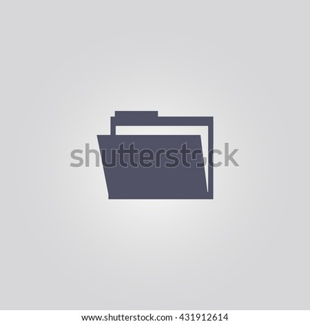 folder icon. folder vector. folder sign - stock vector