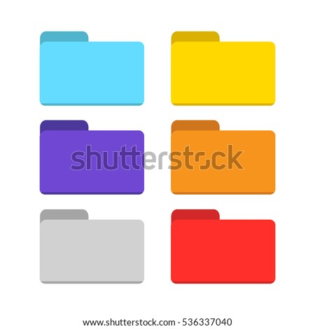 folder icon isolated vector set