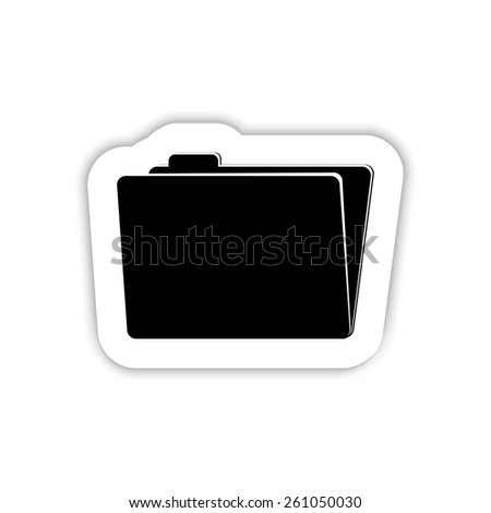 Folder icon on a white background with shadow