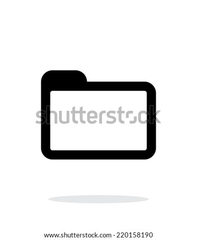 Folder icon on white background. Vector illustration. - stock vector